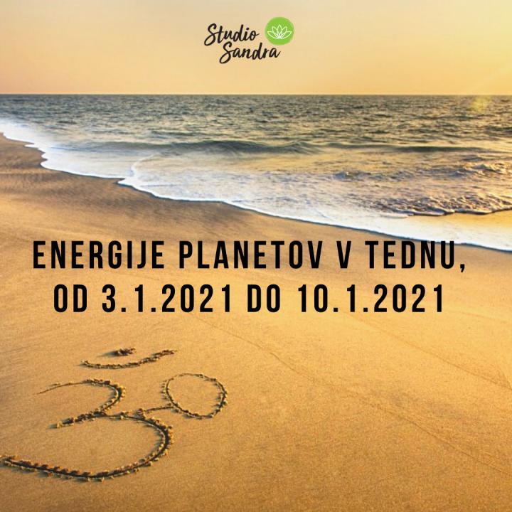 ENERGIJE PLANETOV V TEDNU OD 3.1. DO 10.1.2021