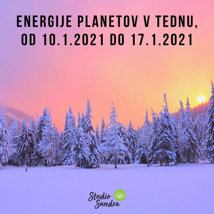 ENERGIJE PLANETOV V TEDNU OD 10.1.2021 DO 17.1.2021