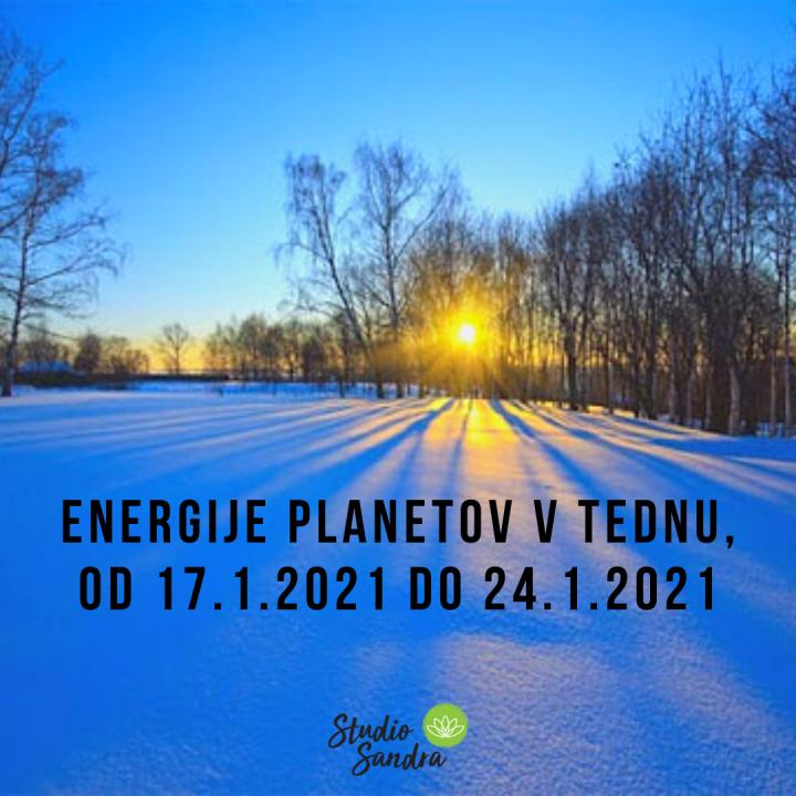 ENERGIJE PLANETOV V TEDNU OD 17.1.2021 DO 24.1.2021