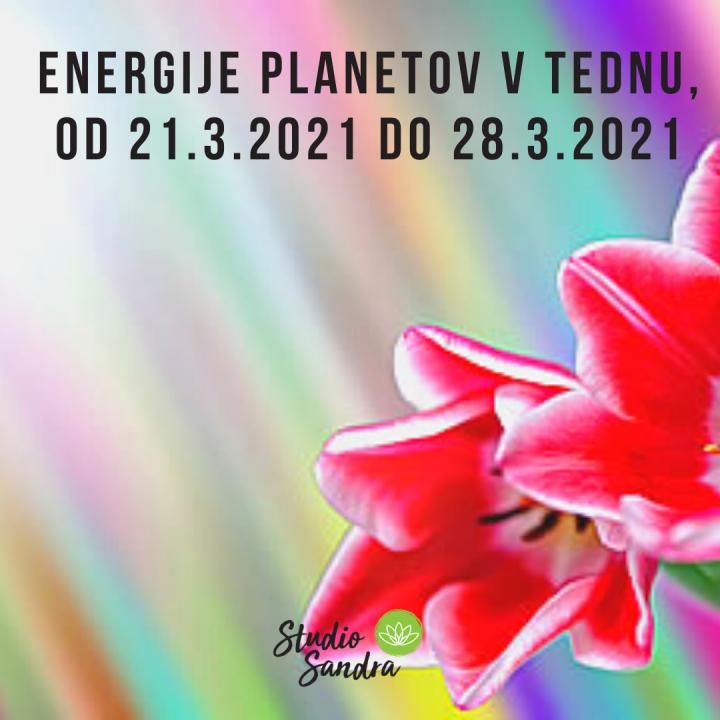 ENERGIJE PLANETOV V TEDNU OD 21.3. DO 28.3.2021