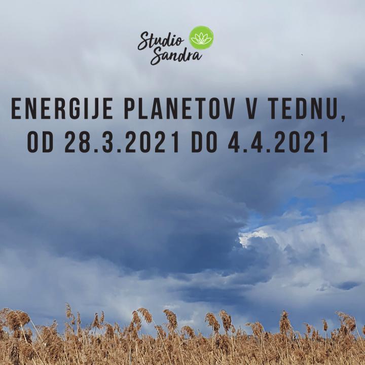 ENERGIJE PLANETOV V TEDNU OD 28.3. DO 4.4.2021