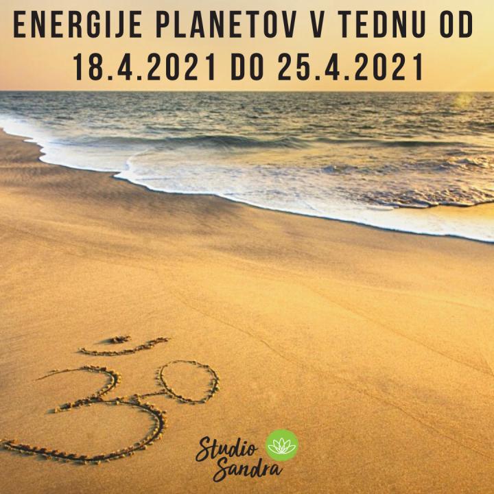 ENERGIJE PLANETOV V TEDNU OD 18.4 DO 25.4 2021