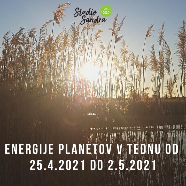 ENERGIJE PLANETOV V TEDNU OD 25.4. DO 2.5.2021