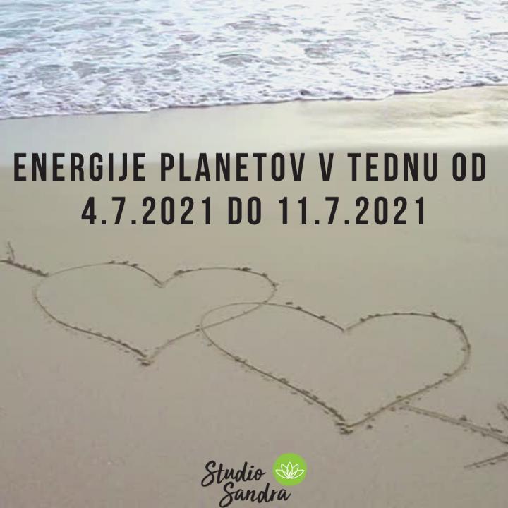 ENERGIJE PLANETOV V TEDNU OD 25.7.DO 1.8.2021