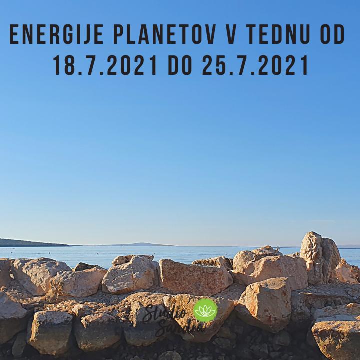 ENERGIJE PLANETOV V TEDNU OD 18.7. DO 25.7.2021