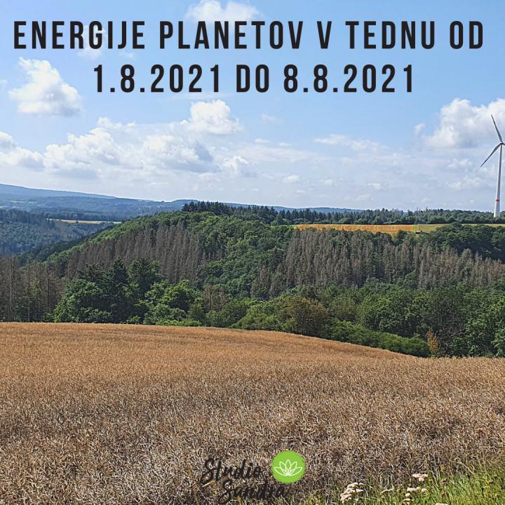 ENERGIJE PLANETOV V TEDNU OD 1.8. DO 8.8.2021
