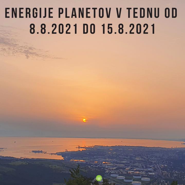 ENERGIJE PLANETOV V TEDNU OD 8.8. DO 15.8.2021